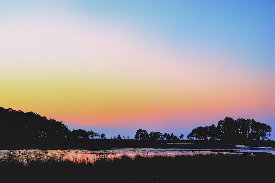 Marsh Photograph - Marshy Sunset by Kelly Reber
