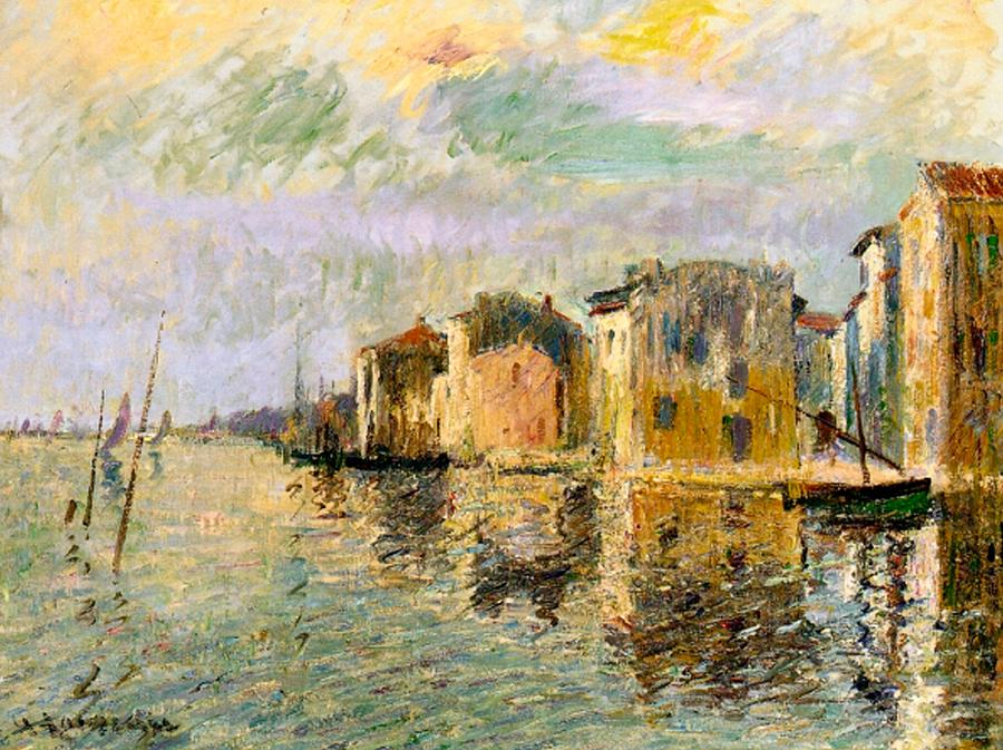 Martigues Painting - Martigues In The South Of France by Gustave Loiseau