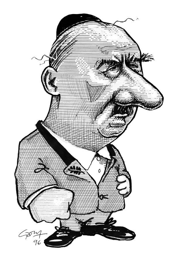 Martin Heidegger Photograph - Martin Heidegger, Caricature by Gary Brown