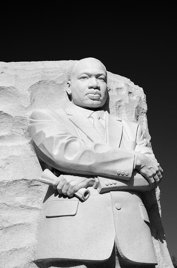 Martin Photograph - Martin Luther King Jr Memorial - Black And White by Brendan Reals