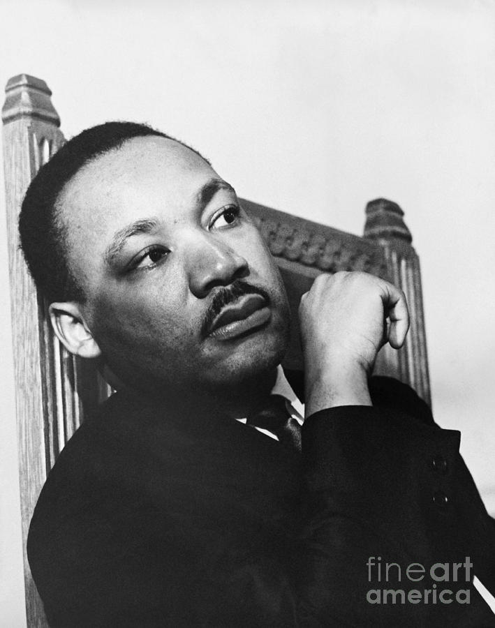 History Photograph - Martin Luther King, Jr by Photo Researchers