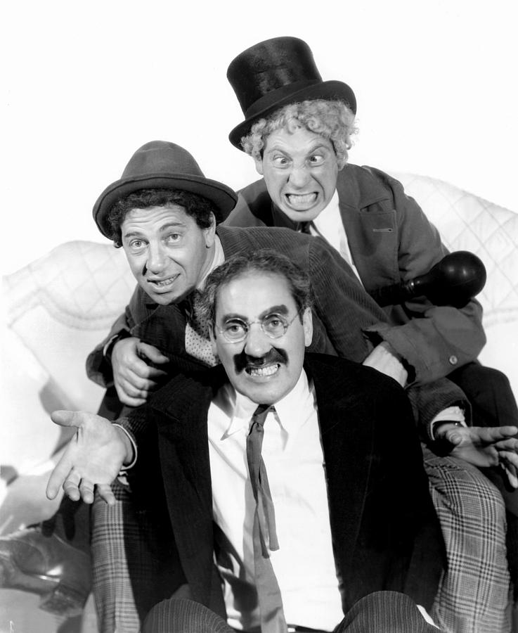 Making Faces Photograph - Marx Brothers - Groucho Marx, Chico by Everett