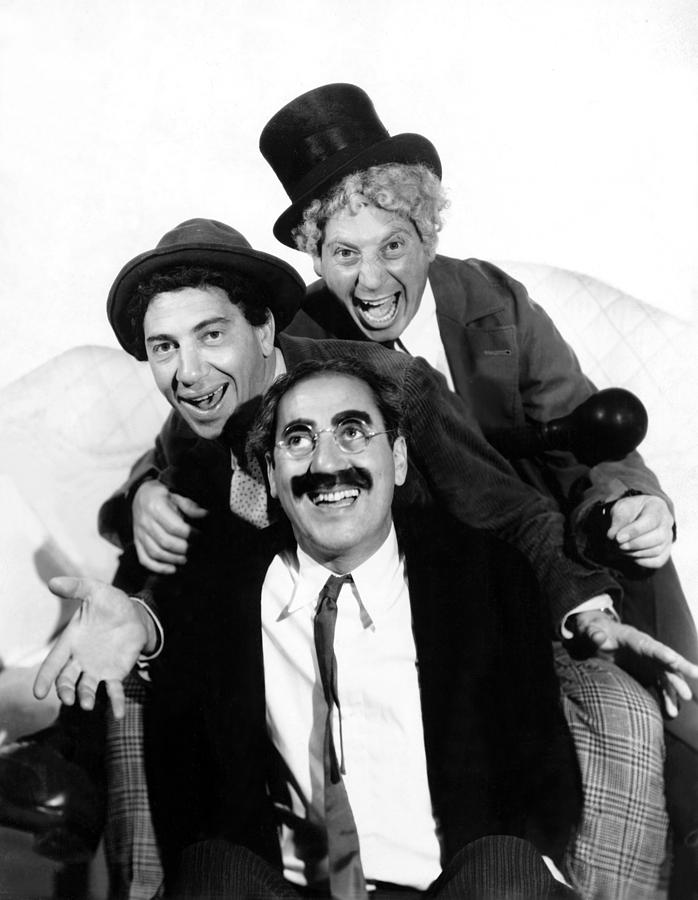 1930s Portraits Photograph - Marx Brothers, The Chico, Groucho by Everett