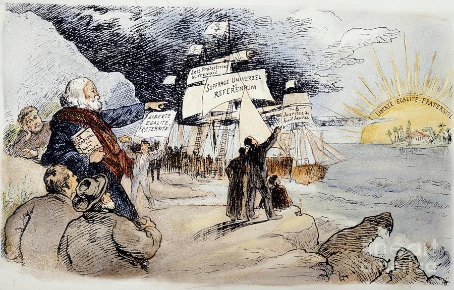 1891 Photograph - Marxism, C1891 by Granger