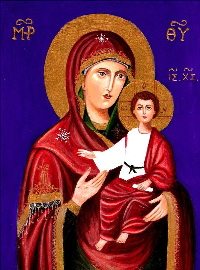 Mary And Jesus Painting By Rita Hiotis