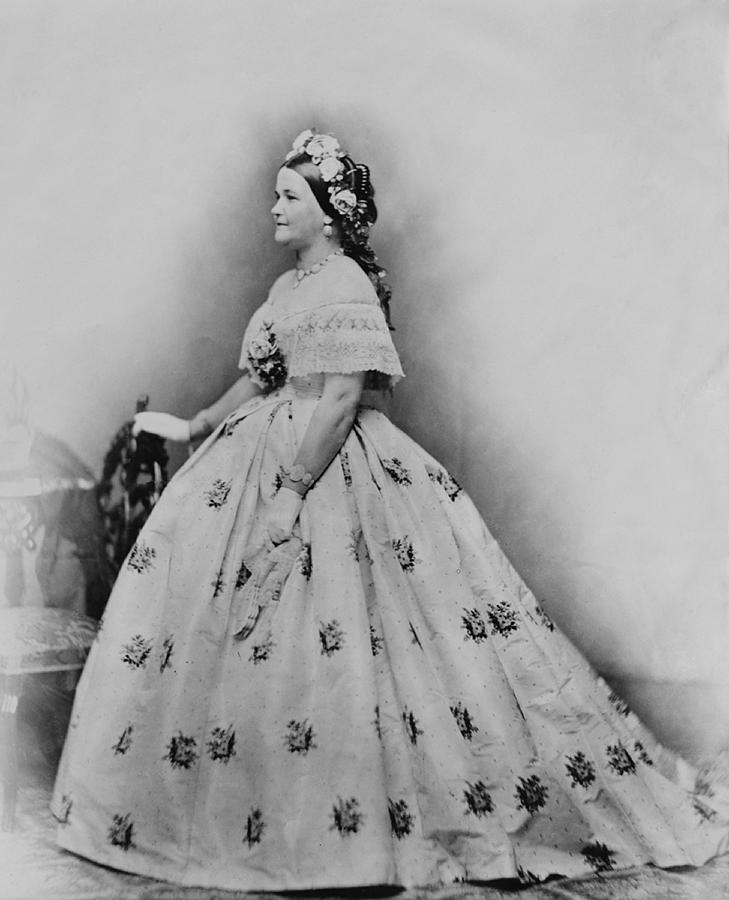 History Photograph - Mary Todd Lincoln 1818-1882, As First by Everett