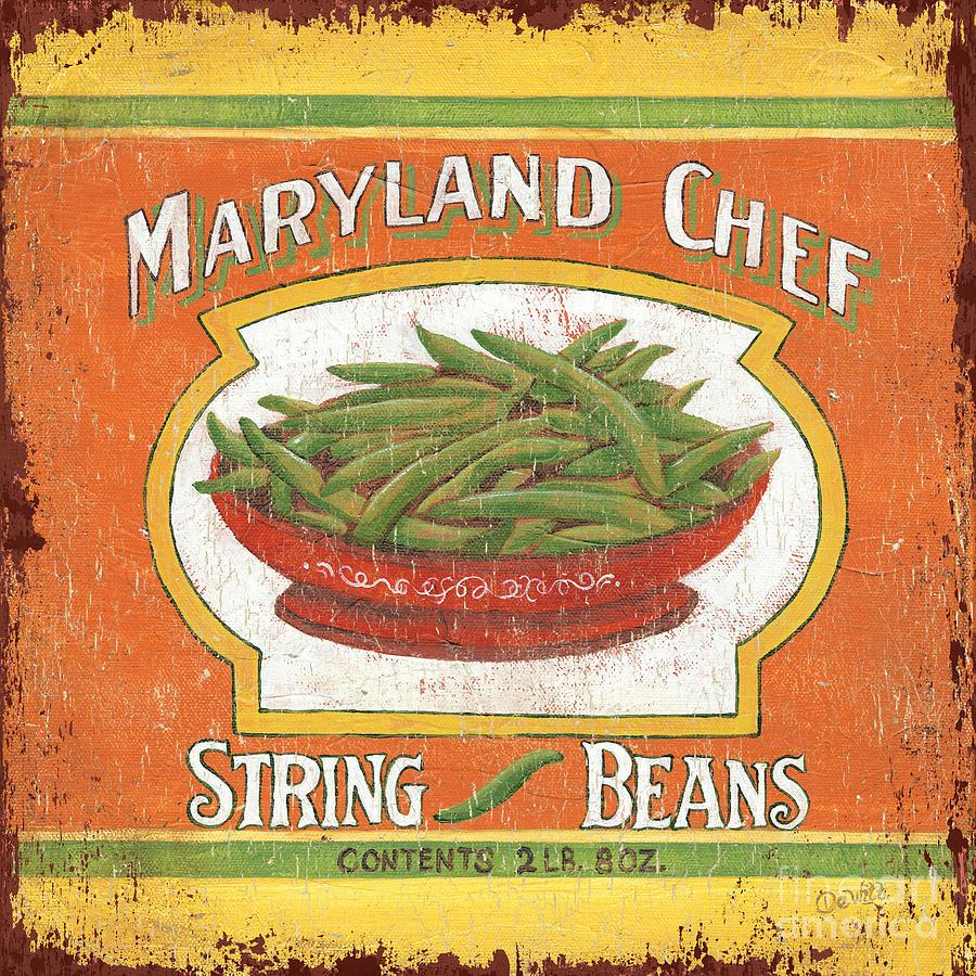 Kitchen Painting - Maryland Chef Beans by Debbie DeWitt