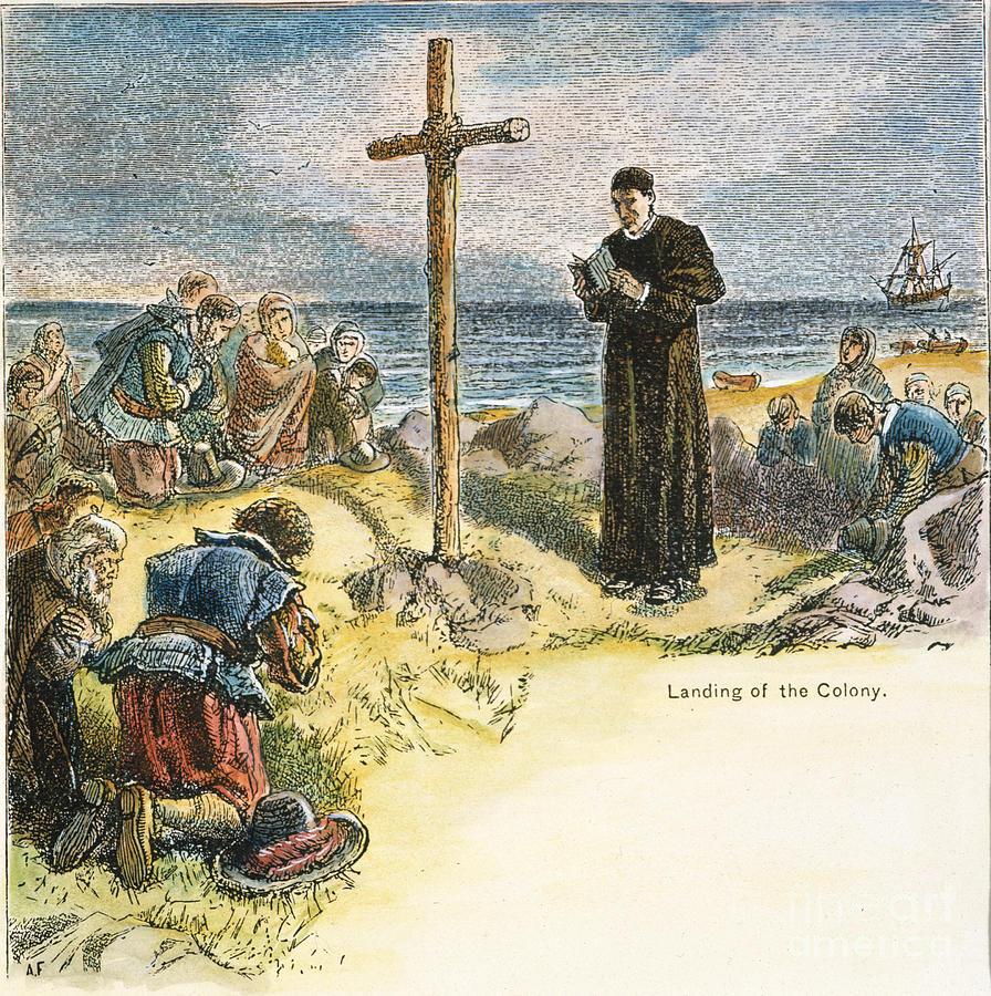 1634 Photograph - Maryland: First Mass, 1634 by Granger