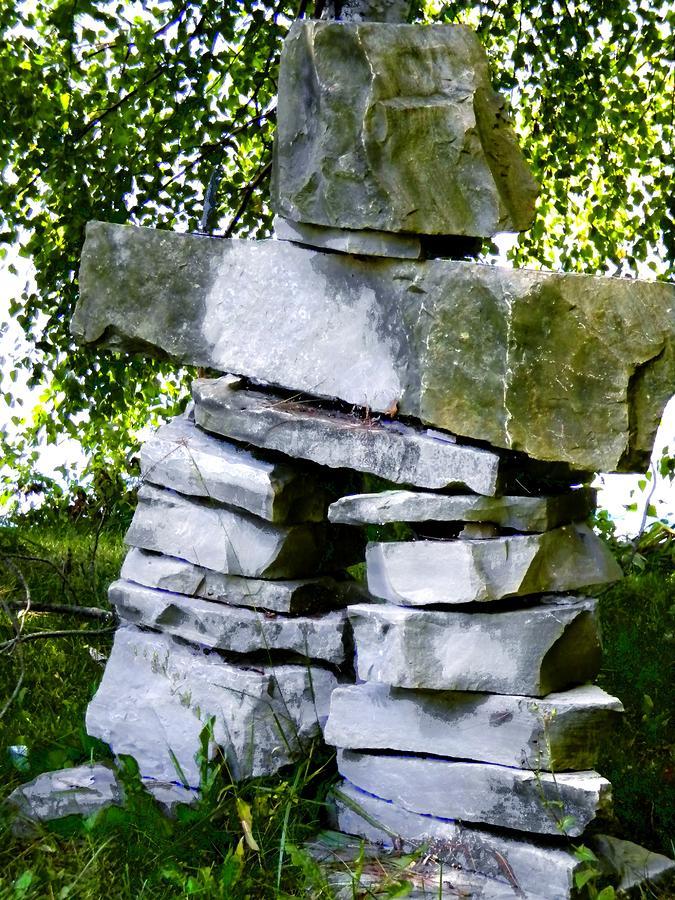 Rocks Photograph - Marys Inukshuk by Renate Nadi Wesley