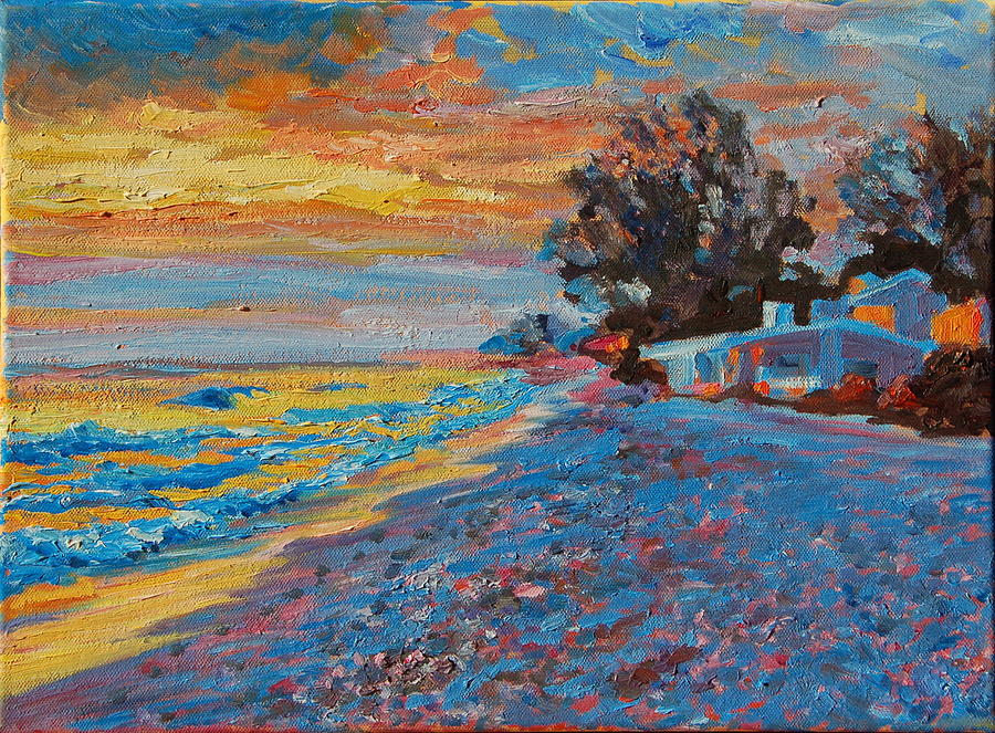 Masasota Key Sunset Painting by Thomas Bertram POOLE