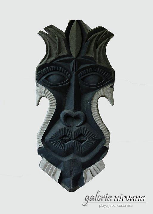 Sand Sculpture - Mask 2 2006 by Eduardo Leiva
