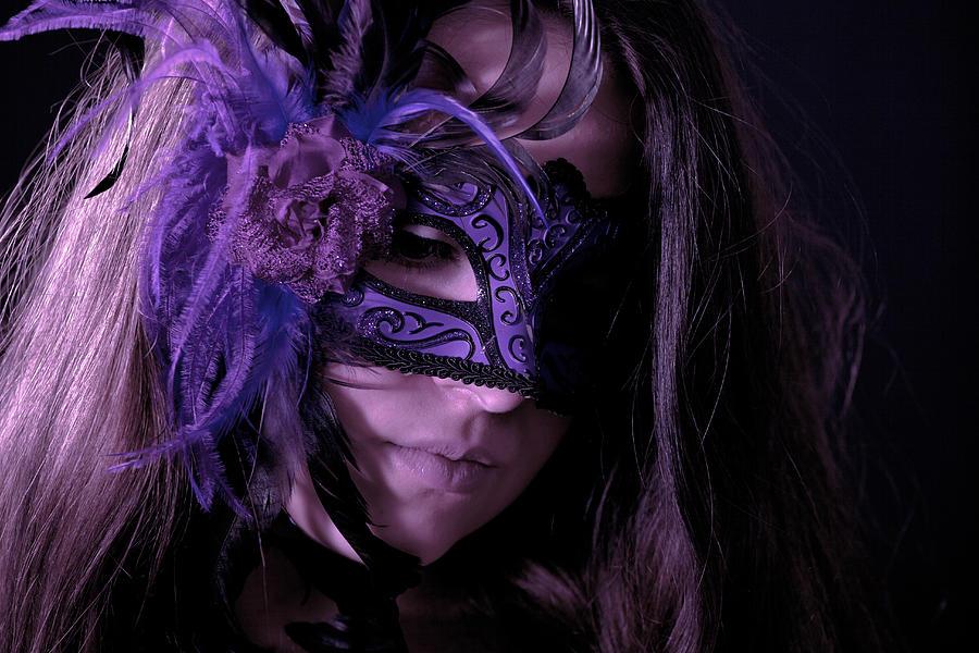 Girls Photograph - Mask by Joana Kruse