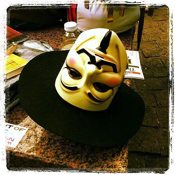 Mask. #occupywallstreet Photograph by Luke Kingma