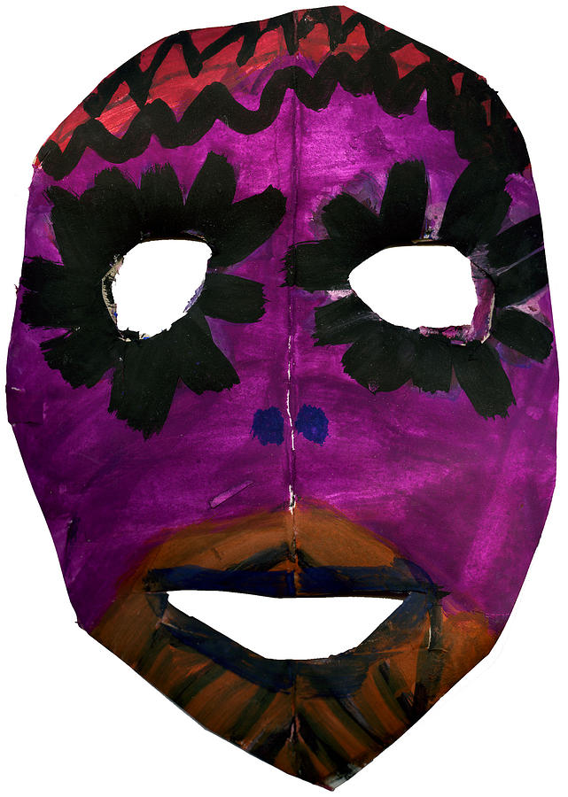 Purple Painting - Masked by Bella