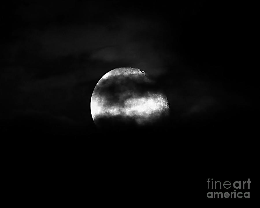 Moon Photograph - Masked Moon by Al Powell Photography USA