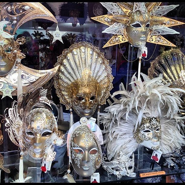 Venice Photograph - Masks in Venice Italy by Irina Moskalev