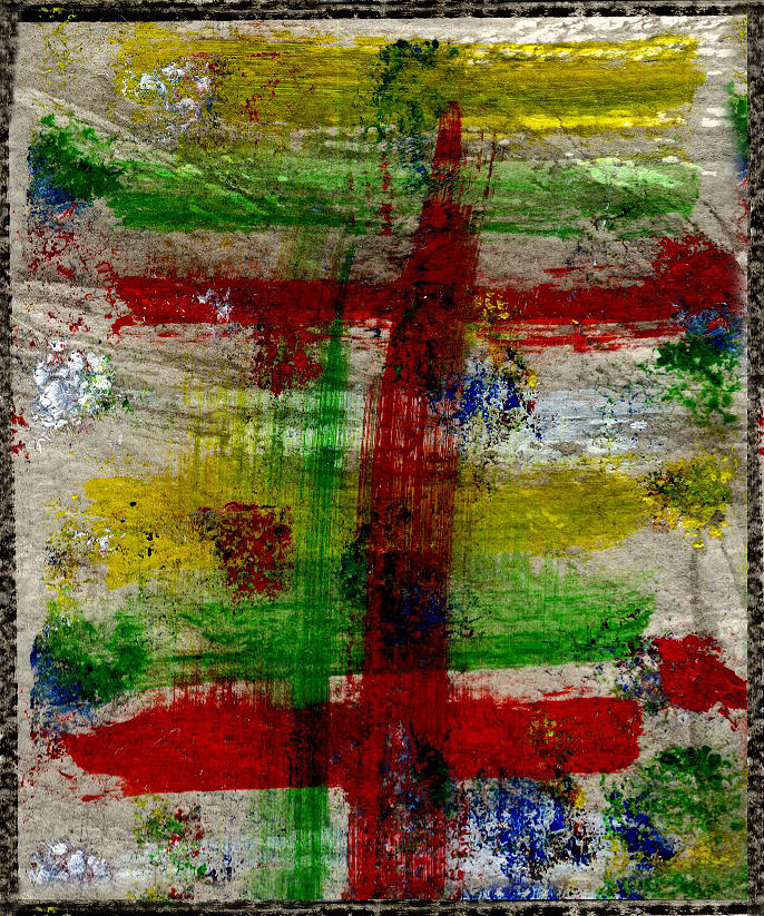 Brush Strokes Painting - Mast On Fire by Kimanthi Toure