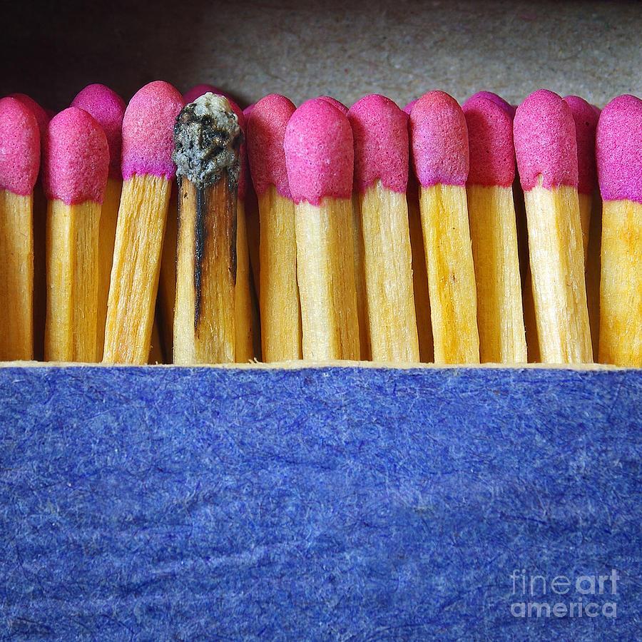 Blue Photograph - Matchbox by Carlos Caetano