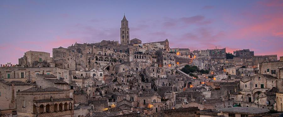 Colour Photograph - Matera Skyline by Michael Avory