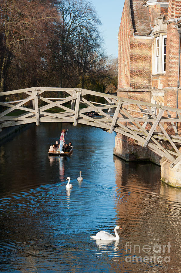 Anglia Photograph - Mathematical Bridge by Andrew  Michael
