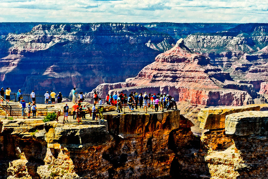 Mather Point Painting - Mather Point by Bob and Nadine Johnston