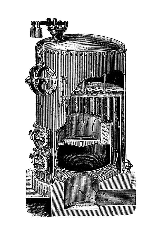 Equipment Photograph - Mathian Steam Boiler by Mark Sykes