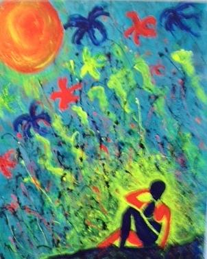 Matisse And Me Painting by Annette McElhiney