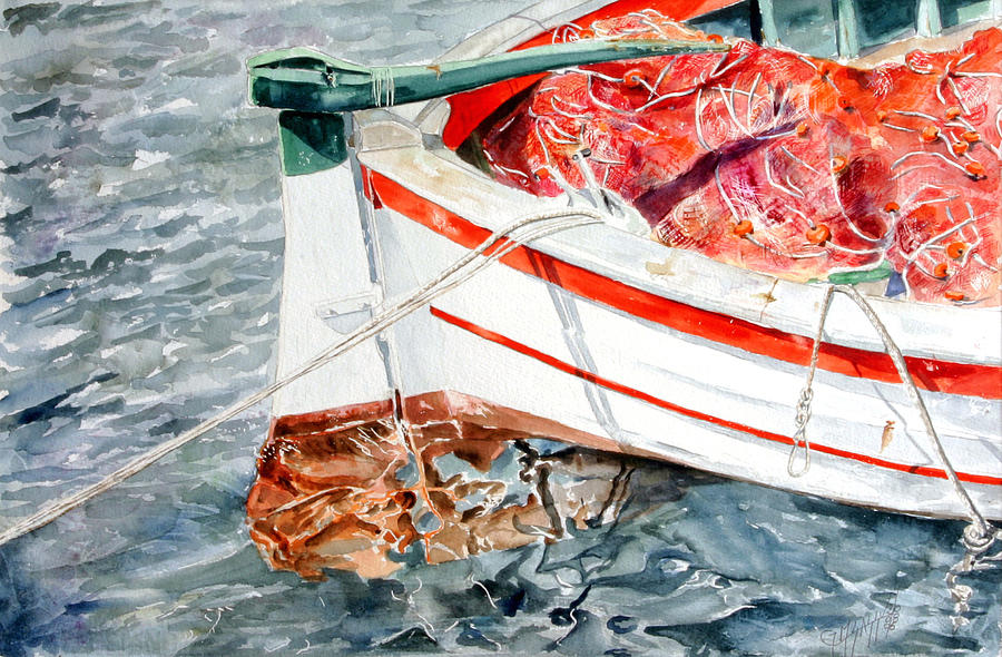 Boats Painting - Matricola 2ca 970 by Giovanni Marco Sassu