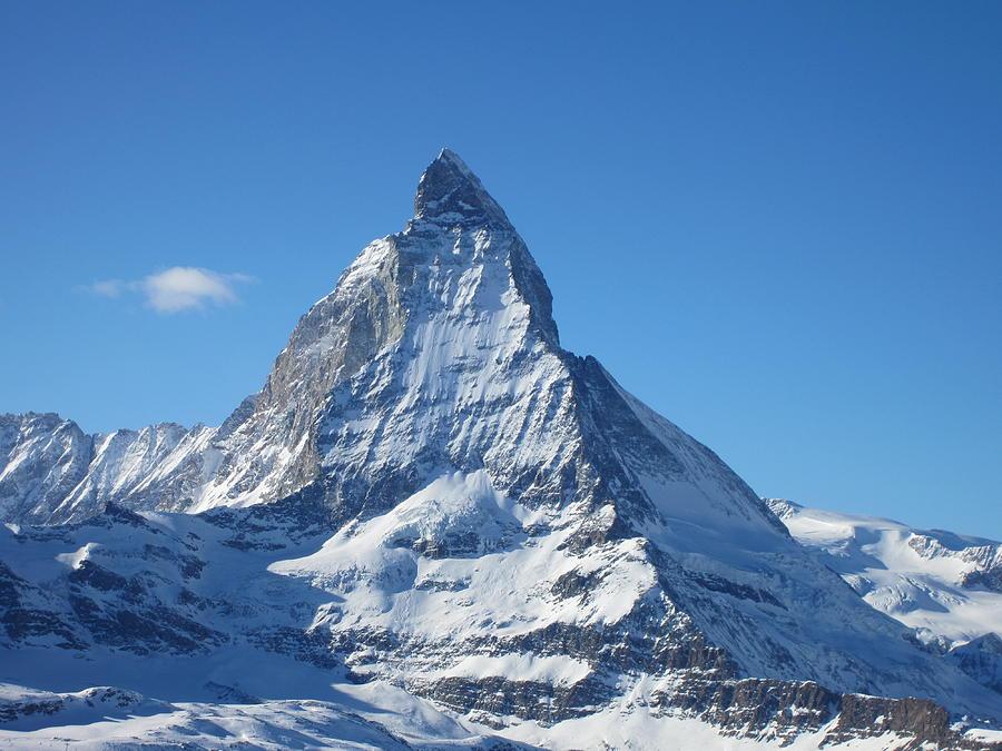 Snow Photograph - Matterhorn by Dion Halliday
