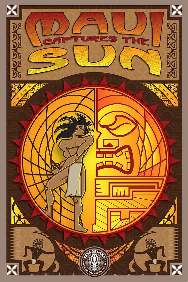 Maui Captures The Sun Digital Art by Ron Ronzi White
