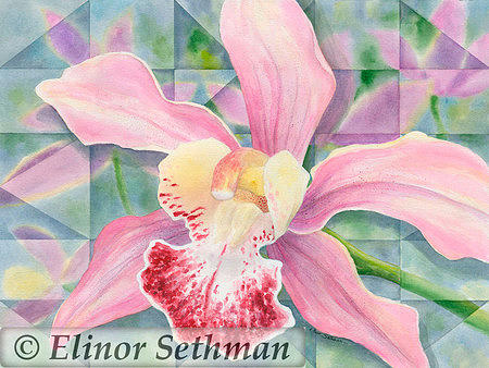 Orchid Painting - Maui Orchid by Elinor Sethman