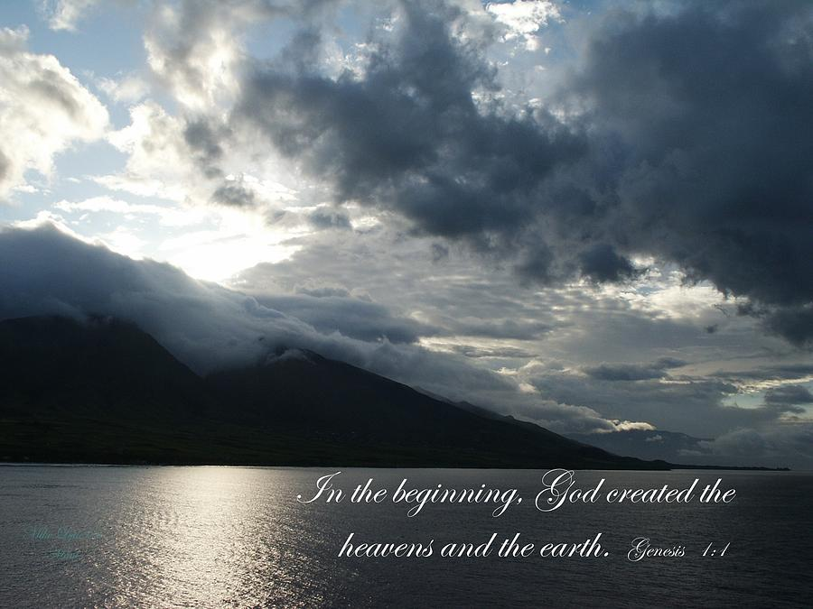 Ocean Photograph - Maui Scripture II by Mike Lytle
