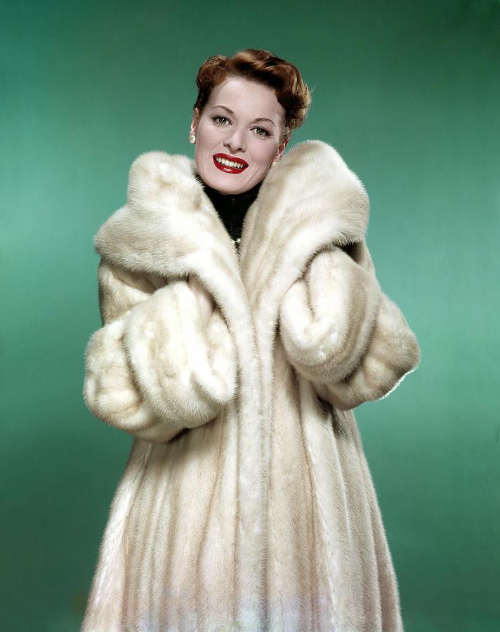 1950s Fashion Photograph - Maureen Ohara, 1958 by Everett