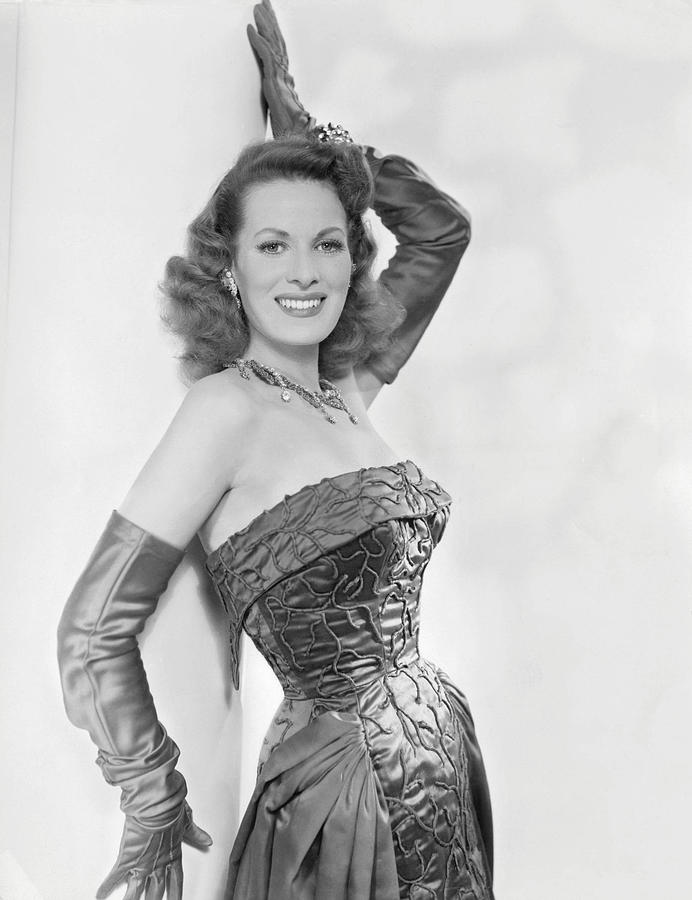 Brocade Photograph - Maureen Ohara, Circa 1954 by Everett