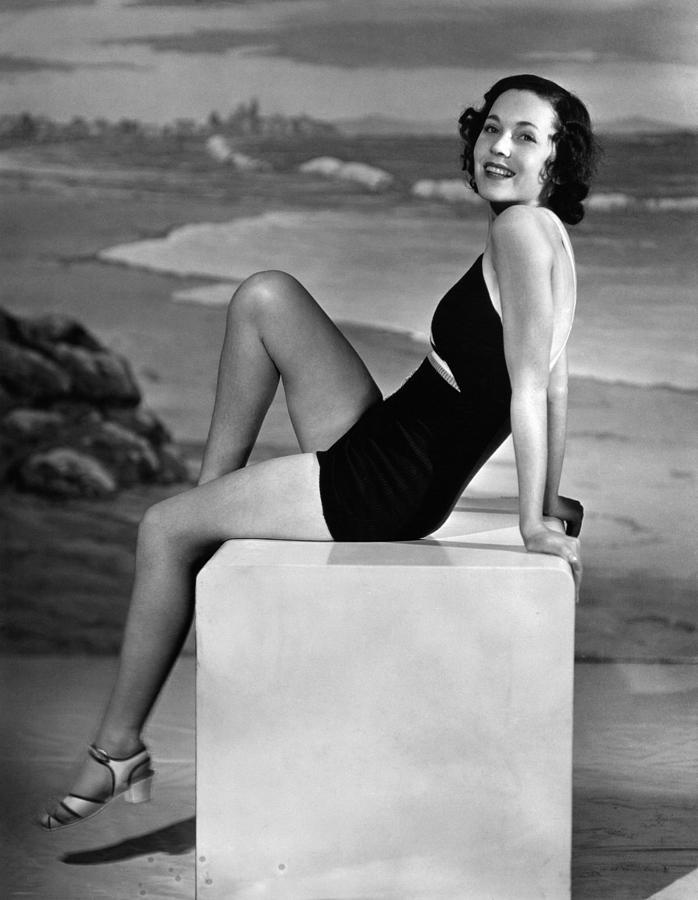 Bathing Suit Photograph - Maureen Osullivan, Ca. 1930s by Everett