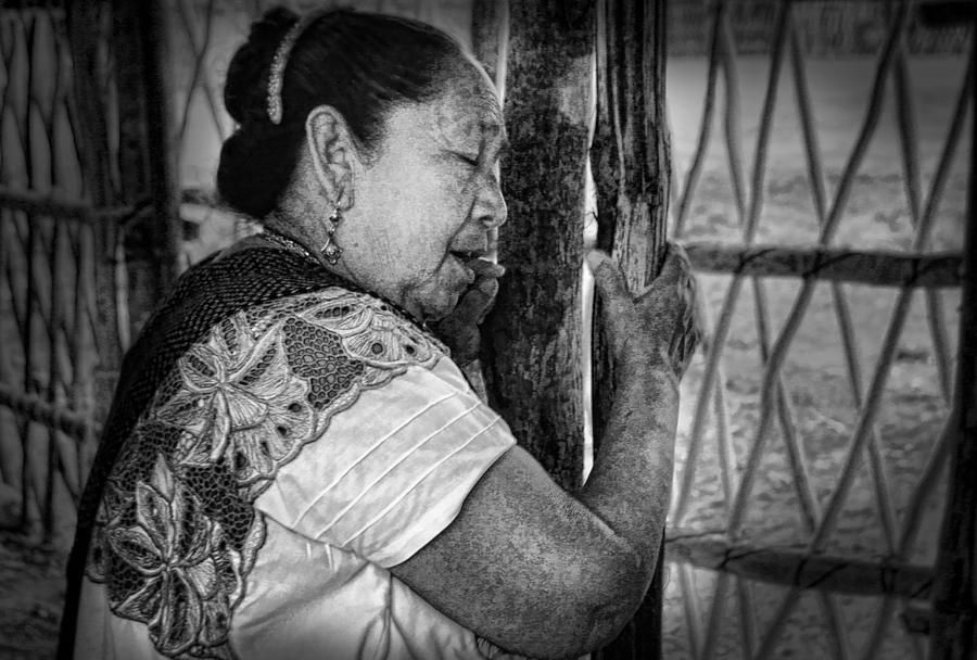 Portrait Photograph - Maya Woman by Andrew Xenios