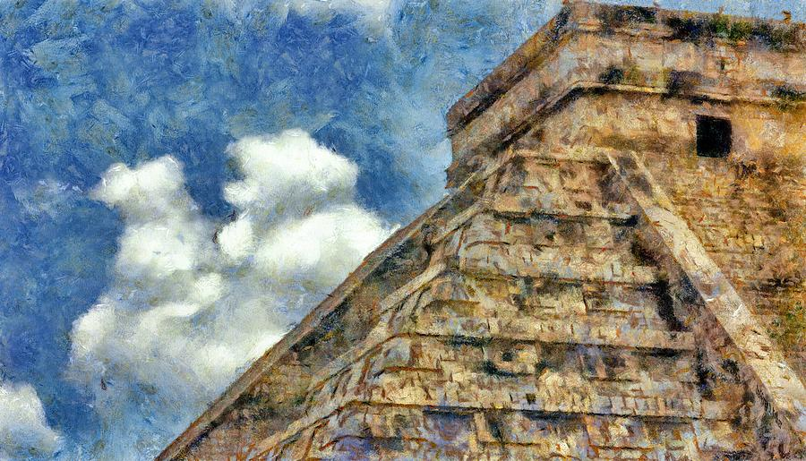 Ancient Painting - Mayan Mysteries by Jeff Kolker