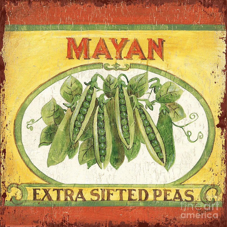 Kitchen Painting - Mayan Peas by Debbie DeWitt