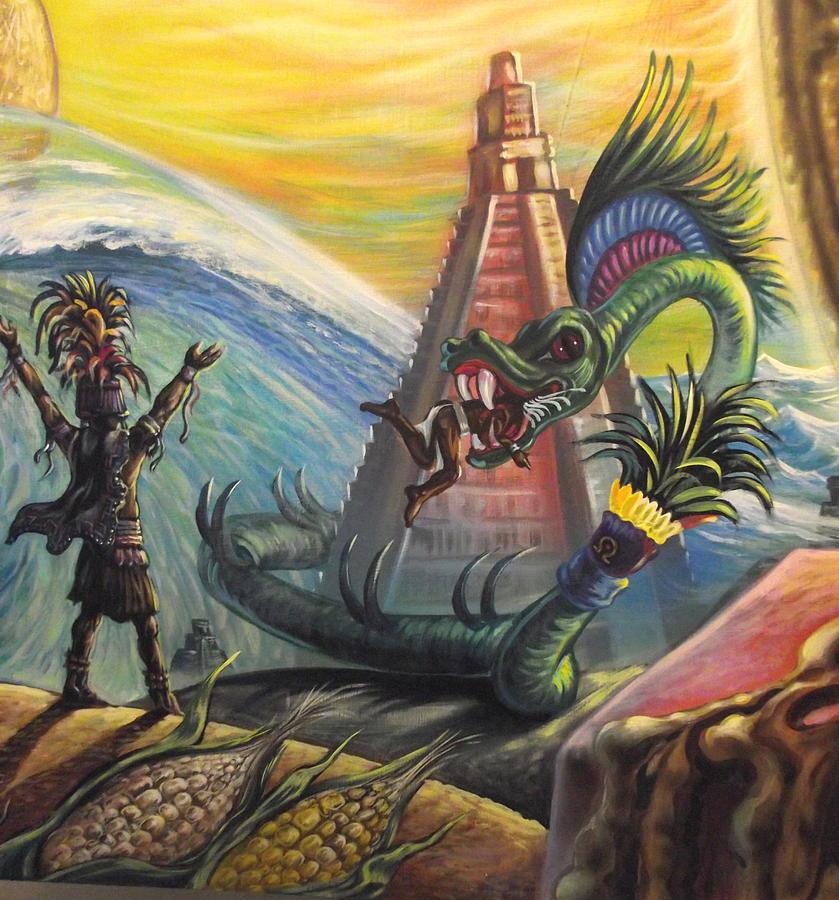 Mayan World Mixed Media - Mayan Predictions 2012 by Joe Santana