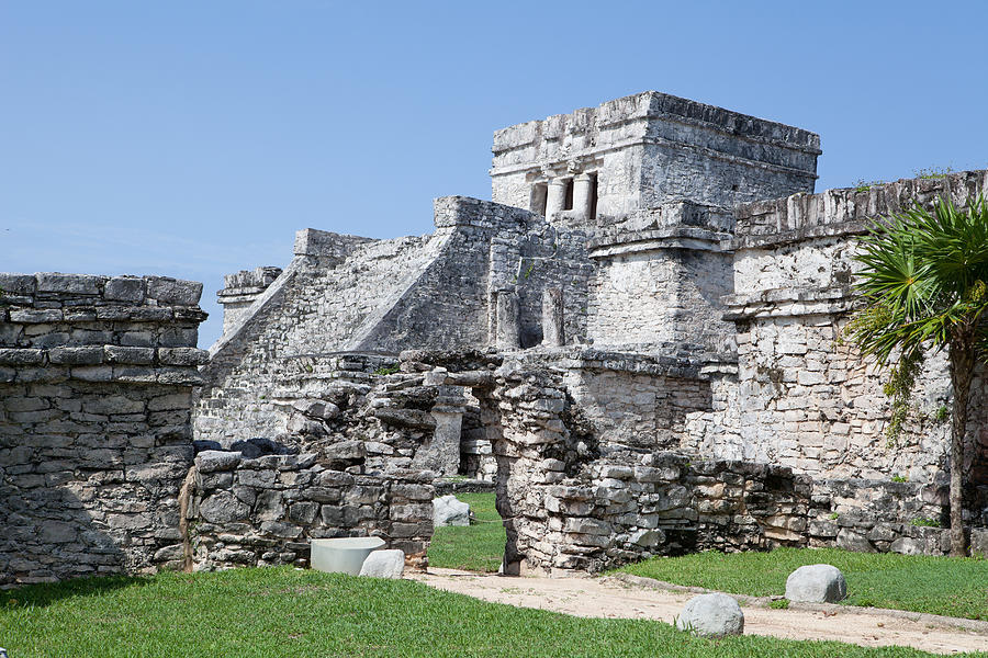 Horizontal Photograph - Mayan Ruins by Monica and Michael Sweet