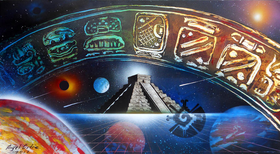 Mayas Painting - Mayans 2012 Masters Of Time by Angel Ortiz