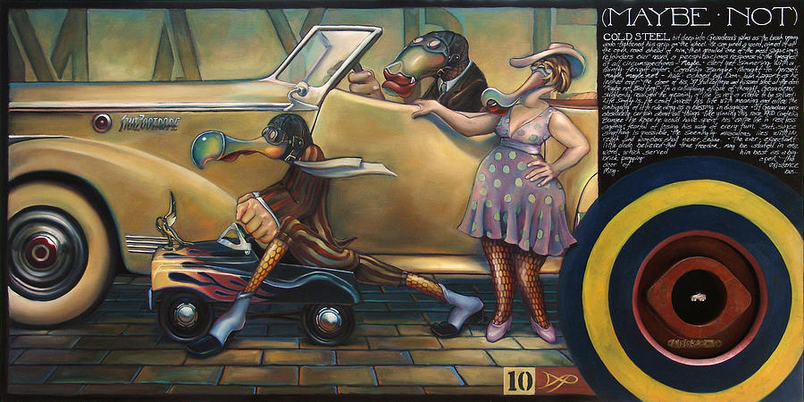 Automobile Painting - Maybe Maybe Not by Patrick Anthony Pierson