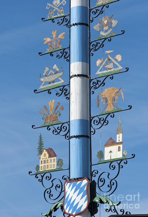 Bavaria Photograph - Maypole  by Andrew  Michael