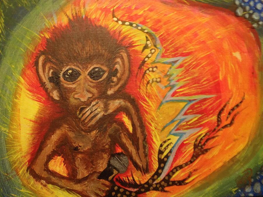 Monkey Painting - Mc Monkey by Zitlalli Rodriguez
