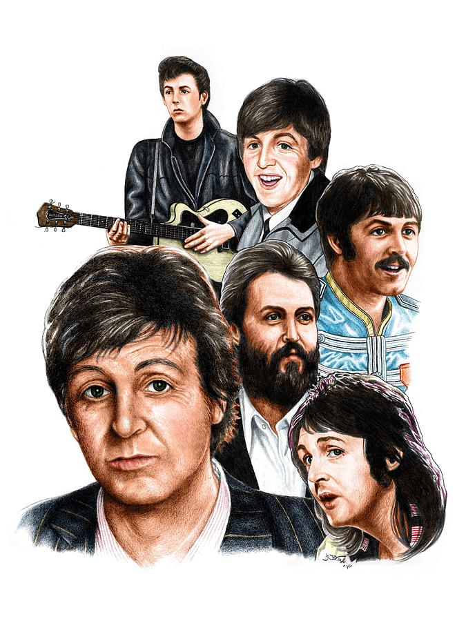 Mccartney Drawing - Mccartney - Heart Of The Band  by Jonathan W Brown