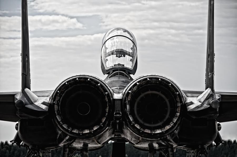 F-15 Photograph - Mcdonnel Douglas F-15 Back View by Marta Holka