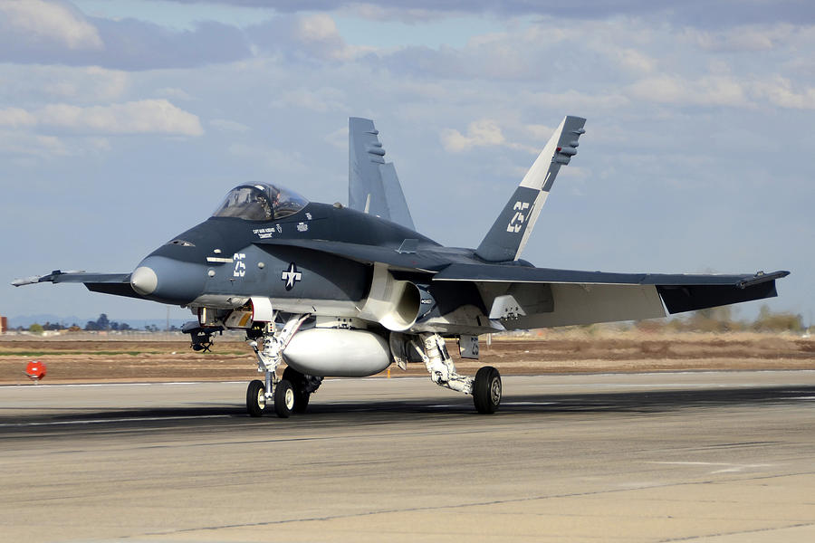 Airplane Photograph - Mcdonnell Douglas Fa-18c Hornet Buno 163733 Naf El Centro February 16 2012 by Brian Lockett