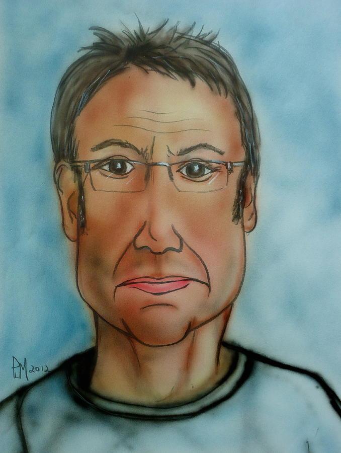 Self Portrait Painting - Me Again by Pete Maier