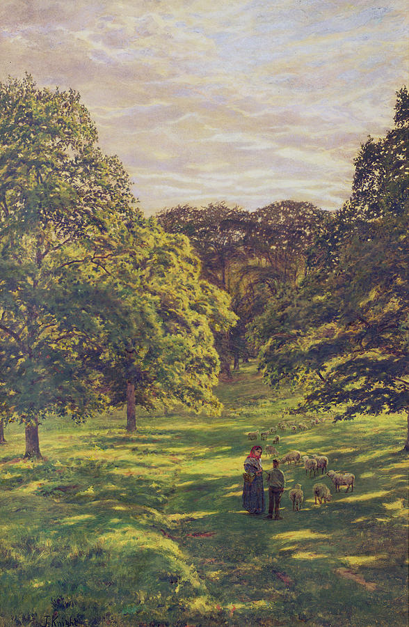 Meadow Painting - Meadow Scene  by John William Buxton Knight