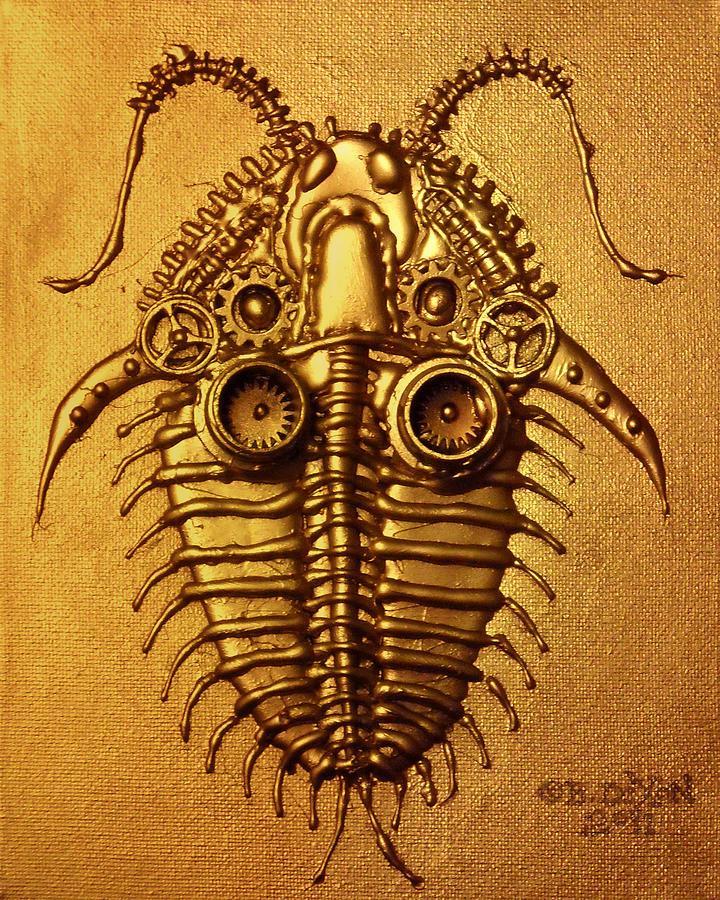 Steampunk Relief - Mecha-trilobite 3 by Baron Dixon